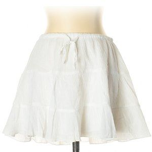 Old Navy White Cotton Mini 3 Tier A-Line Skirt
